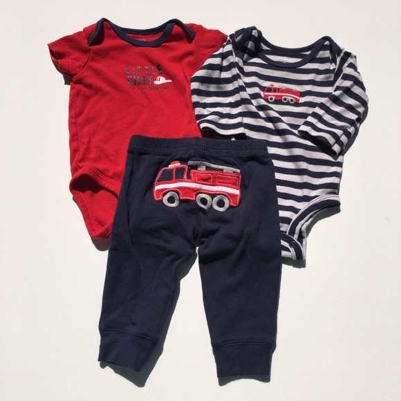 285c494f8 Carter's Matching Sets | Carters Fire Truck Themed Onesies And Pants ...